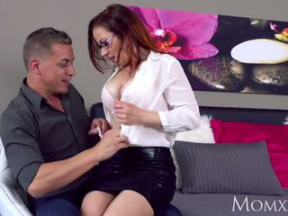 MOM Milf lust in glasses and stockings