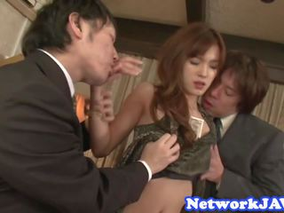 Lovely Japanese Beauty Suck Cock in Threeway: Free Porn bd