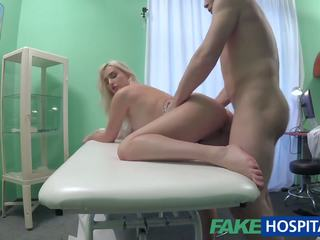 Fake Hospital Blonde Patient Gives Blowjob Before.