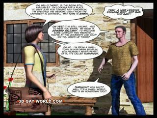 Ruang untuk sewa 3d homoseks pria animated karikatur comics