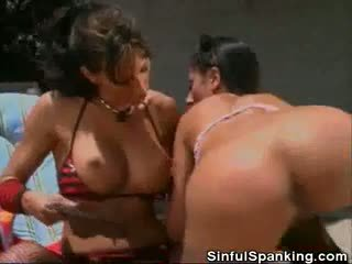 Dominatrix In Disguise Paddles Her Slave
