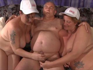German Fat MILFs Threesome Part 2, Free Porn fe
