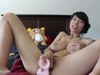 Hot Asian Girl Plays with Dildo, Free HD Porn b3