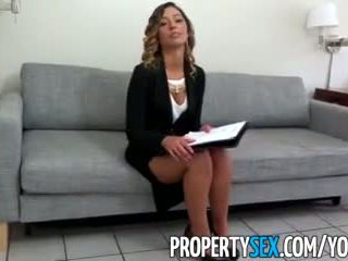 Propertysex - Sexy Beautiful Agent Seduces And Fucks Home Owner For Signature