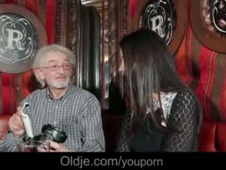 Gray Grandpa Seduced By Adorable Teen Girl For His Old Cum