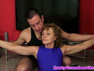 Bigass Granny Screwed after Toy Play, HD Porn 0f