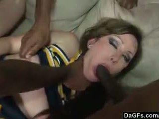 Jennifer vs 6 black monster cocks