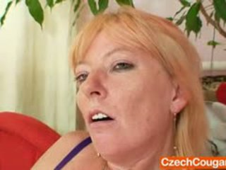 Blond-haired Amateur Mom First Time Video