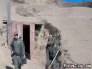 Latina brunette teen got pounded by the border police