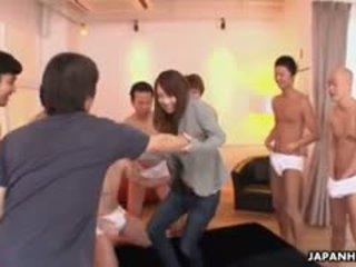 Amazing Surprise Bukkake Party For Lovely Japanese Porn