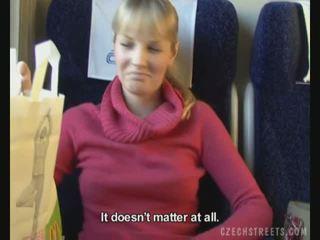 Public fuck on train