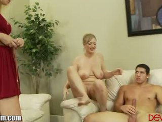 Mom Tries Cock out for Daughter as She Masturbates