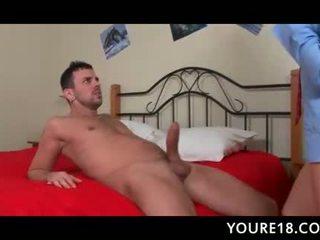 Teen brunette loves getting slutty with big cocks