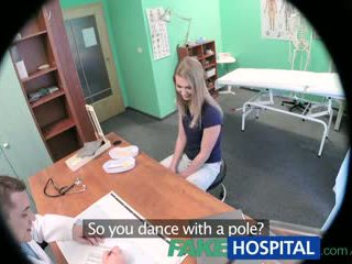 Fakehospital innocent blonde gets la doctors massage