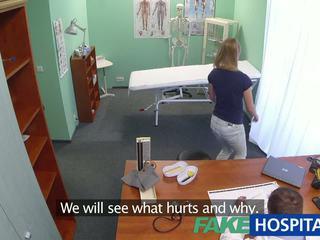 Fakehospital innocent blondine gets de doctors