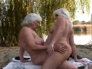 Hairy Grannies Fuck Outdoors, Free Lesbian Porn Video 72