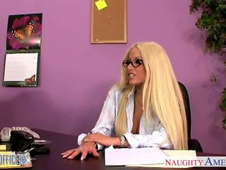 Office babe in glasses Gina Lynn fucking