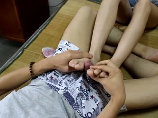 China Student's Sexy Soles and Toes and Feet Footjob...