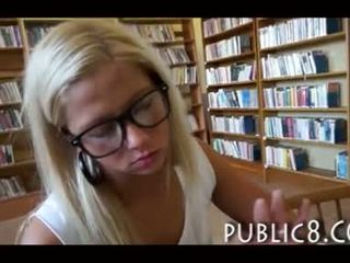 Schoolgirl has anal sex in a public library