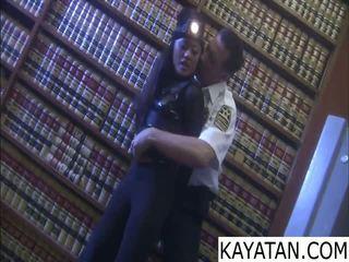 Pinay buruk gadis na dali ng keselamatan guard