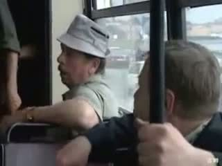 Public indecency on the bus this horny couple doesnt give a shit (amateur mature mom mother milf granny outdoors cumshot MadMaxxx )