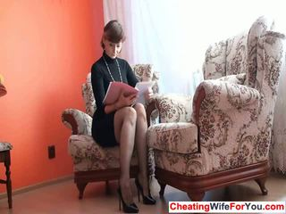 Mature lady shows pussy