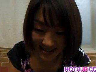 Miyuki Hashida sucks dong and gets cum