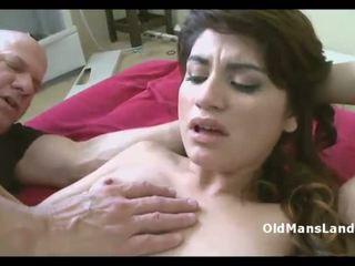 Old pervert nails small tit latina Danni