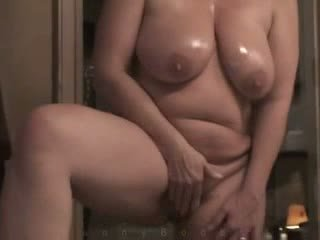 Milf With Heavy Hangers Masturbates