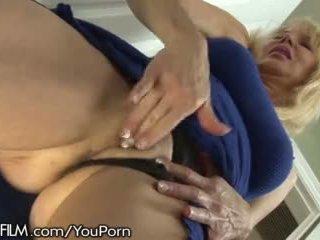 Cougar Masturbates to Daughter Getting Fucked
