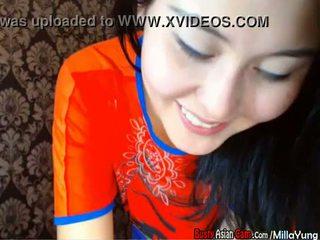 Chinese webcam cute hot Asian tease MillaYung - BustyAsianCam.com part 1