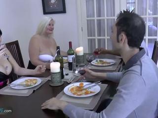 Agedlove granny paksuke lacey täht met tema friends: porno d9