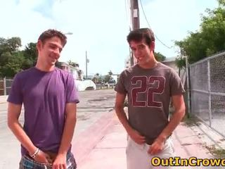 Hot straight hunks get outed in public
