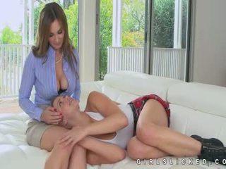 Mia Malkova amazing lesbian seduction