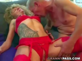 Horny Granny Fucks Her Guests, Free Real Granny Porn Porn Video