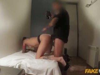 Fake Cop Slutty Spanish Cock Sucker Gets Cum on Glasses