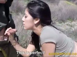 Latina kimberly gates banged by border patrol officer