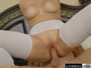 Teen Vanessa Shows Her Big Titties and Fucks a Huge Cock