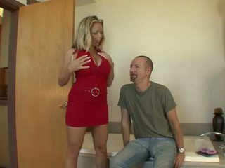 Busty Amber Lynn Bach Doesn't Mind To Have A Bump In The Bathroom