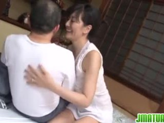 Mature chic in Japanese has sex