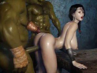 2 geants baisent une jolie fille, grátis porno 3c