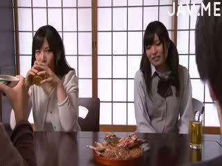 japonês, ejaculação, bunda