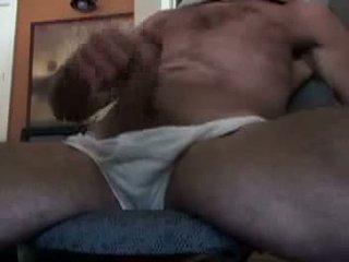 Papà segarsi spento in anteriore di il web cam