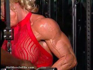 caucazian, fata solo, muscular