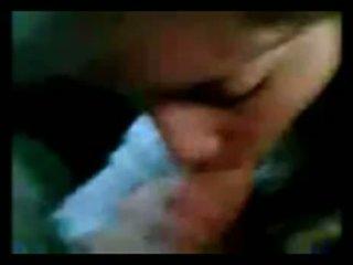 Argentino ragazza succhiare in auto