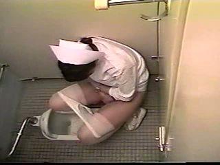 Japanese Nurse Bathroom Masturbation