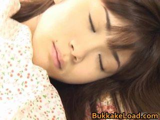 Asuka ohzora hawt asiática modelo acquires sexo cream