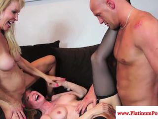 Nina Hartley threeway with mature Erica Lauren