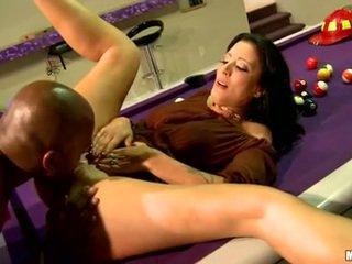 Zoe holloway mentira em billiard tabela e licked difícil