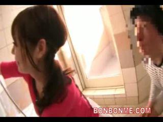 일본의, 샤워, 아내